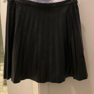 JCrew Faux Leather Pleated Skirt